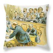 Litigation Cartoon Throw Pillow