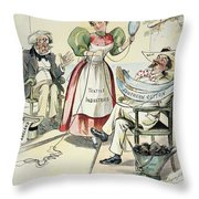 New South Cartoon, 1895 Throw Pillow