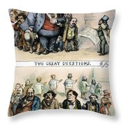 Nast: Tweed Corruption Throw Pillow