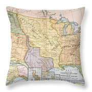 Map: U.s. Expansion, 1905 Throw Pillow