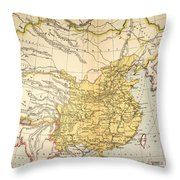 Map: China, 1910 Throw Pillow