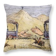 Promontory Point, 1869 Throw Pillow