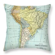South America: Map, C1890 Throw Pillow