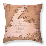 Cook: Newfoundland, 1763 Throw Pillow