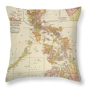 Map: Philippines, 1905 Throw Pillow