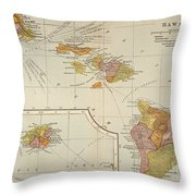 Map: Hawaii, 1905 Throw Pillow