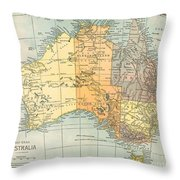 Map: Australia, C1890 Throw Pillow