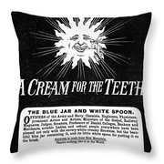 Fonweiss Toothpaste, 1887 Throw Pillow
