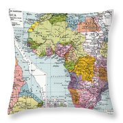 Partitioned Africa, 1914 Throw Pillow