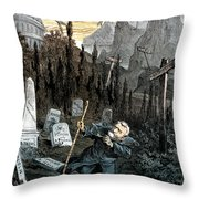 Grant Cartoon, 1880 Throw Pillow