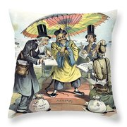 Missionary Cartoon, 1895 Throw Pillow