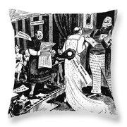 Press Cartoon, 1912 Throw Pillow