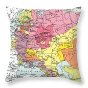 Map: Expansion Of Russia Throw Pillow