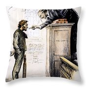 Red Scare Cartoon, 1919 Throw Pillow