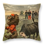 Boer War Cartoon, 1899 Throw Pillow
