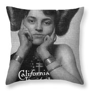 Hairstyle: Hopi, 1911 Throw Pillow