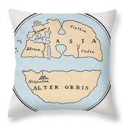 World Map, 1st Century Throw Pillow