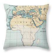 Map: Phoenician Empire Throw Pillow