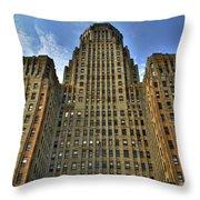 01 Buffalo Ny City Hall Throw Pillow
