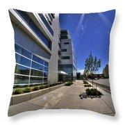 01 Conventus Medical Building On Main Street Throw Pillow