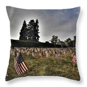 01 Flags For Fallen Soldiers Of Sep 11 Throw Pillow
