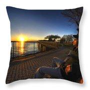 01 Me Sunset 16mar16 Throw Pillow