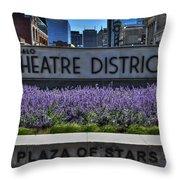 01 Plaza Of Stars Buffalo Theatre District Throw Pillow