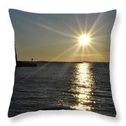 01 Sunset 16mar16 Throw Pillow