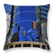 01 W. Chipp And Delaware Construction  Throw Pillow
