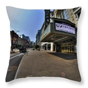 01 Walking Past Sheas Buffalo Ny Throw Pillow