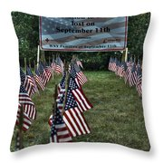 010 Flags For Fallen Soldiers Of Sep 11 Throw Pillow