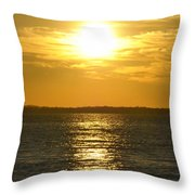 010 Sunset 16mar16 Throw Pillow