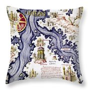Marco Polo (1254-1324) Throw Pillow