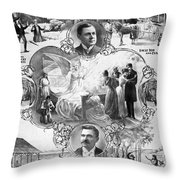 Uncle Tom's Cabin, C1899 Throw Pillow