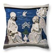 Della Robbia: Annunciation Throw Pillow