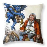 Cartoon: John Bull, C1814 Throw Pillow