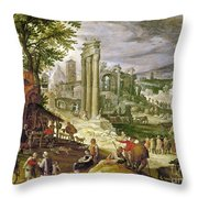 Roman Forum, 16th Century Throw Pillow