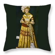 Katharina Von Mecklenburg Throw Pillow