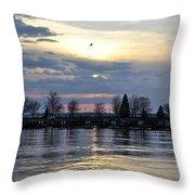 013 April Sunsets Throw Pillow