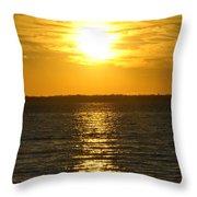 013 Sunset 16mar16 Throw Pillow