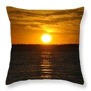 014 Sunset 16mar16 Throw Pillow