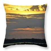 019 April Sunsets Throw Pillow