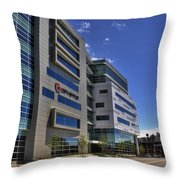 02 Conventus Medical Building On Main Street Throw Pillow