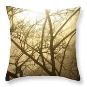 02 Foggy Sunday Sunrise Throw Pillow