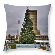 02 Happy Holidays From First Niagara Throw Pillow