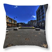02 Plaza Of Stars Throw Pillow