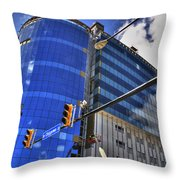 02 W Chipp And Delaware Construction  Throw Pillow