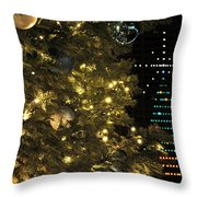 02 Xmas Trees At Canalside And Seneca One Tower Dec2015 Throw Pillow