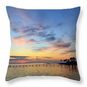 0201 Sunset Wisps On Sound Throw Pillow