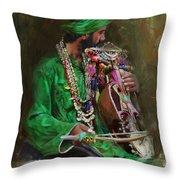 023 Sindh Throw Pillow
